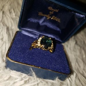 Ronte Faux Emerald Ring
